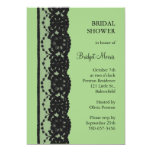 French Lace Bridal Shower (green) Personalized Invites