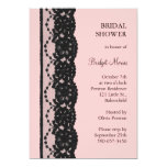 French Lace Bridal Shower (pink) Custom Invites