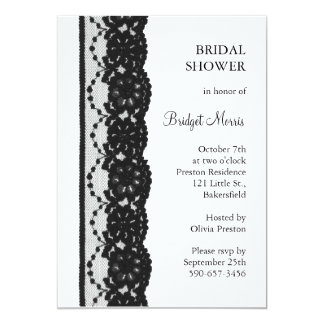French Lace Bridal Shower (white) Card