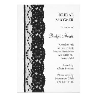 French Lace Bridal Shower white Custom Invites
