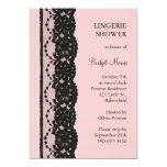French Lace Lingerie Shower (pink) Invites