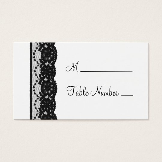 French Lace Place Card (white)