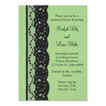 French Lace Rehearsal Dinner (green) Announcements