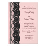 French Lace Rehearsal Dinner (pink) Invite
