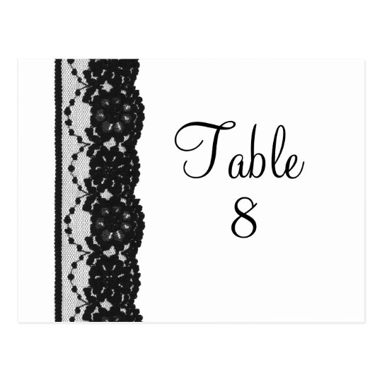 French Lace Table Numer Postcard (white)