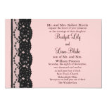 French Lace Wedding Invitation (pink)