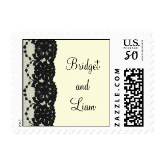 French Lace Wedding Stamp (ivory)