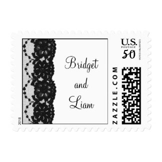 French Lace Wedding Stamp (white)