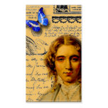 french lady with butterffly store hang tags business card templates