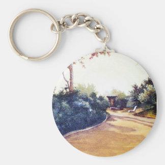 French Landscape Keychain