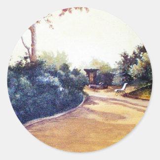 French Landscape Sticker