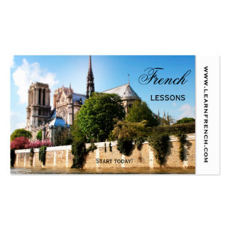 French Language and Culture Teacher Business Card