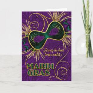 Mardi gras cards zazzle french language mardi gras card m4hsunfo