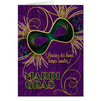 French Language Mardi Gras Card