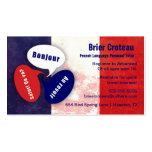 French Language Tutor Business Card