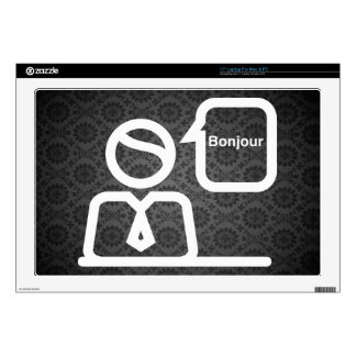 "French Languages Pictograph 17"" Laptop Skin"