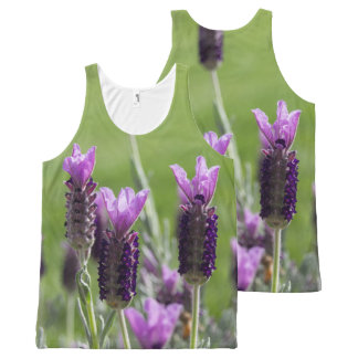 French Lavender Flowers All Over Tank Top All-Over Print Tank Top