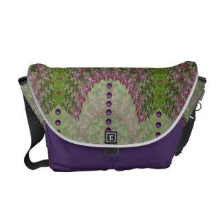 French Lavender Nouveau Abstract Baga Courier Bag