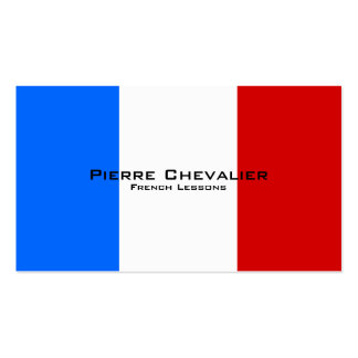 French Lessons / French Teacher Double-Sided Standard Business Cards (Pack Of 100)