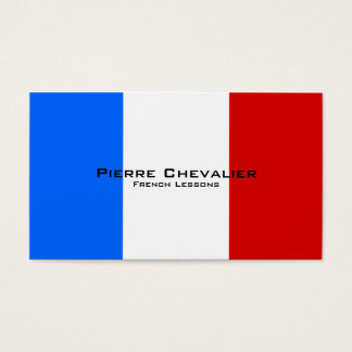 French Lessons / French Teacher / Flag of France Business Card