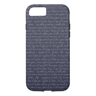 French Lettering Navy Changeable Chalkboard Color iPhone 8/7 Case