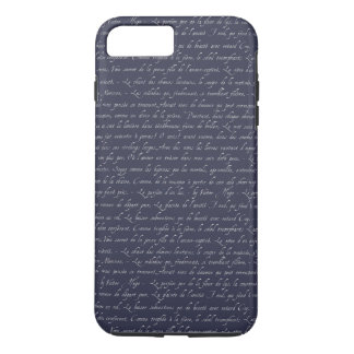 French Lettering Navy Changeable Chalkboard Color iPhone 8 Plus/7 Plus Case