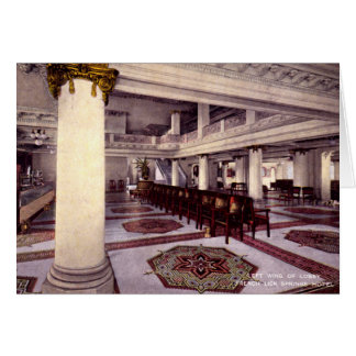 French Lick Indiana Lobby Springs Hotel 1910 Greeting Card