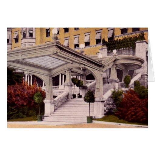 French Lick Indiana Spings Hotel Entrance Greeting Card
