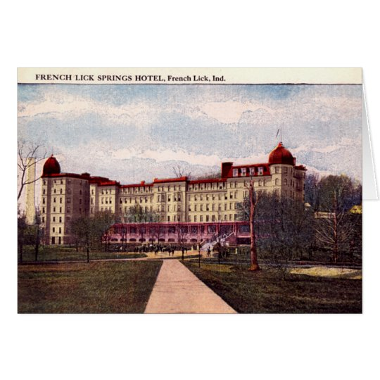 French Lick Indiana Springs Hotel 1907 Card