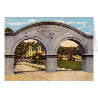 French Lick, Indiana West Baden Springs Card