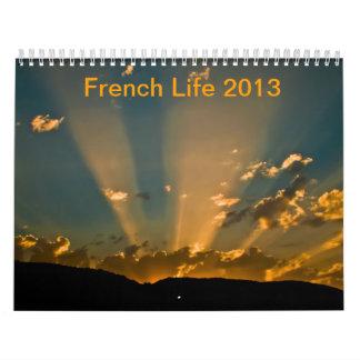 French life 2013 calendar