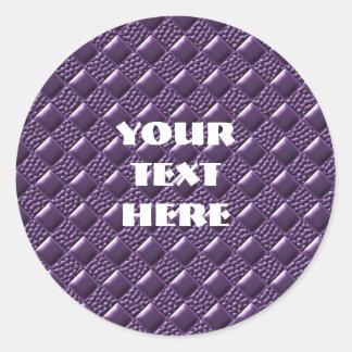 French Lilac Classic Round Sticker