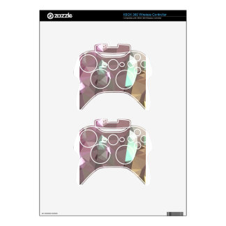 French Lilac Purple Abstract Low Polygon Backgroun Xbox 360 Controller Skin