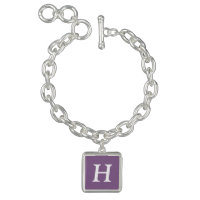 French Lilac Simple Single Color Charm Bracelet
