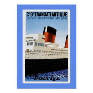 French Line Midships Poster