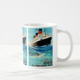 French Line ~ ss Paris Classic White Coffee Mug