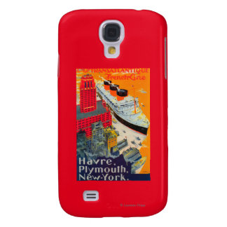 French Line Travel Poster, Havre to Plymouth, NY Galaxy S4 Cover