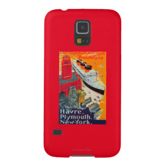 French Line Travel Poster, Havre to Plymouth, NY Galaxy S5 Cover