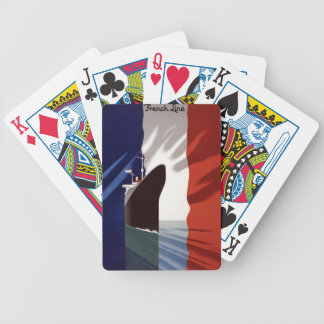 French Line Vintage Travel Europe Playing Cards