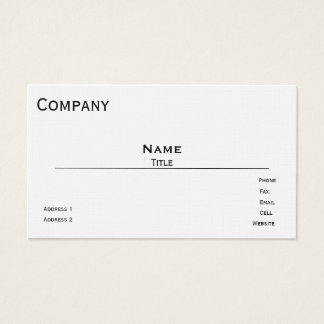 French Linen Business Card Template (White)