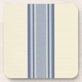 French Linen Stripe (Blue) Coasters