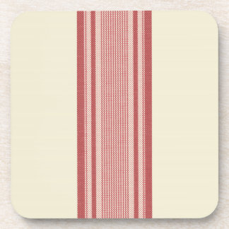 French Linen Stripe (Red) Coasters
