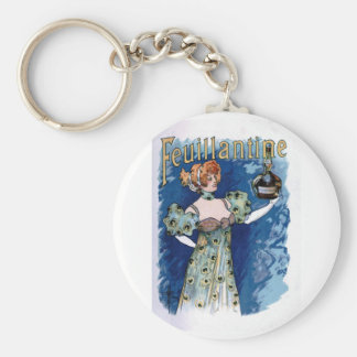 French Liqueur Poster Key Chains