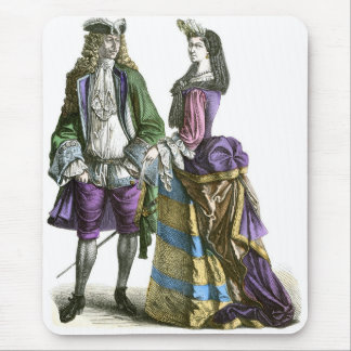 French lord and lady 18th Century Fashion Mouse Pad