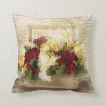 French Love Letters Throw Pillow