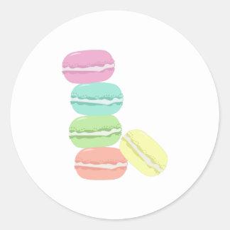 French Macaron Classic Round Sticker