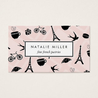 French Macaron & Croissant | Pastry Chef Business Card