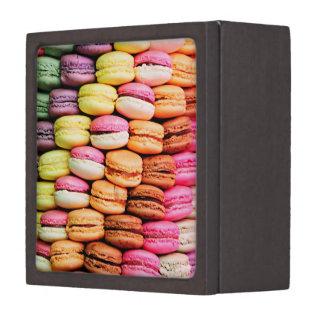 French macaron jewelry box