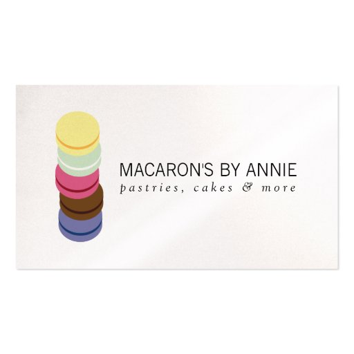 FRENCH MACARON STACK LOGO for Bakery, Pastry Chef Business Cards