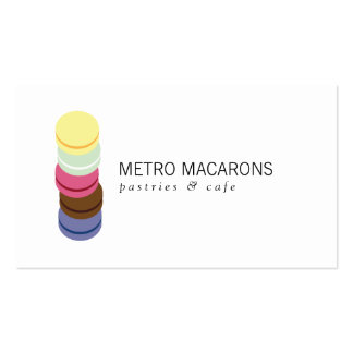 FRENCH MACARON STACK LOGO for Bakery, Pastry Chef Double-Sided Standard Business Cards (Pack Of 100)